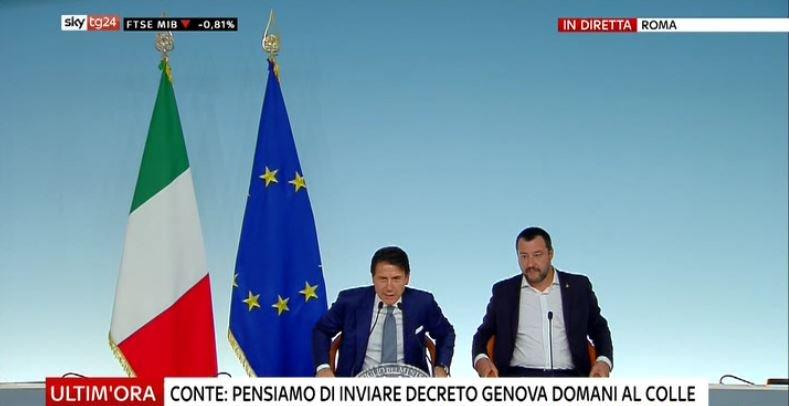 #UltimOra #Conte: pensiamo di inviare decreto Genova domani al Colle #Canale50 http://sky.tg/direttaskytg24  - Ukustom
