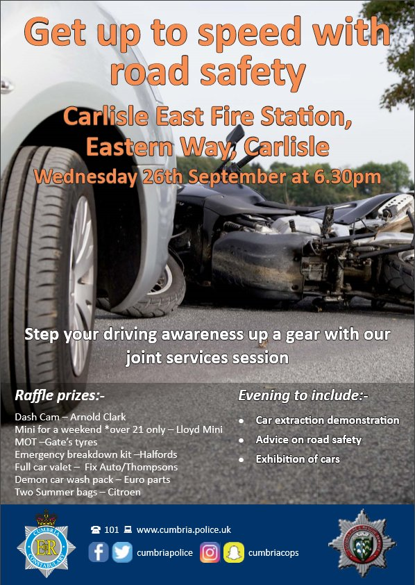 Cumbria Police On Twitter Come Down To Our Driving Awareness