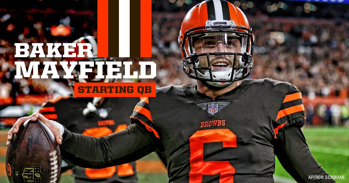 .@bakermayfield has been named our starting QB 🎯