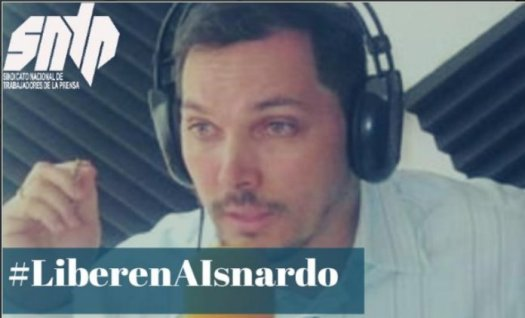 Con la etiqueta #LiberenAIsnardo periodistas condenaron la detención del comunicador https://t.co/nYvbLi8CkX