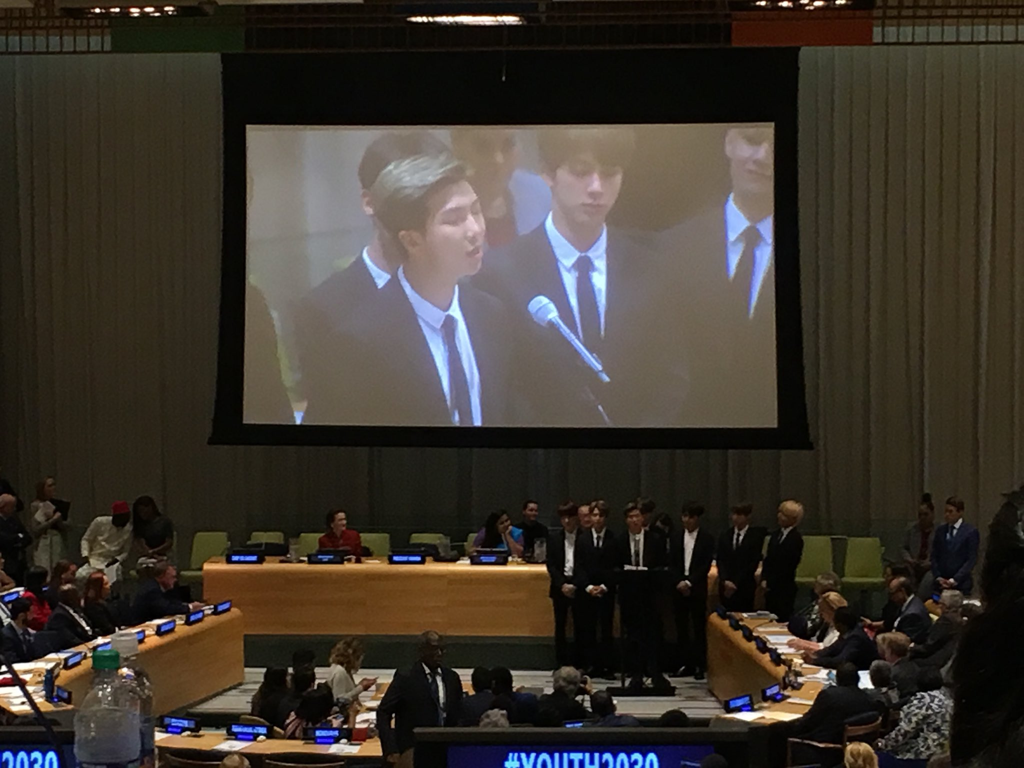 Speak for yourself. Love yourself. Make a name for yourself.   @BTS_twt offers words of wisdom at #Youth2030 https://t.co/80ZswIog4E