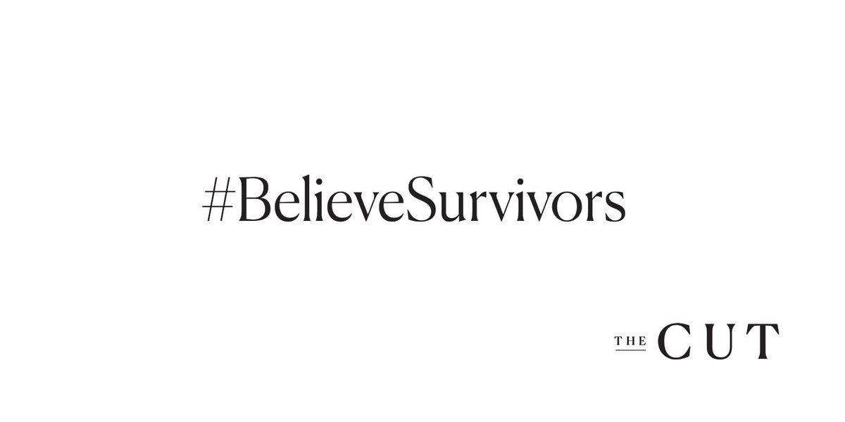 In solidarity with Christine Blasey Ford, Deborah Ramirez, and the millions of sexual assault survivors, The Cut is ceasing publishing until 2 p.m. We are participating in the walkout because we #BelieveSurvivors, and we stand with them https://t.co/LH2wXzxGhy #StopKavanaugh