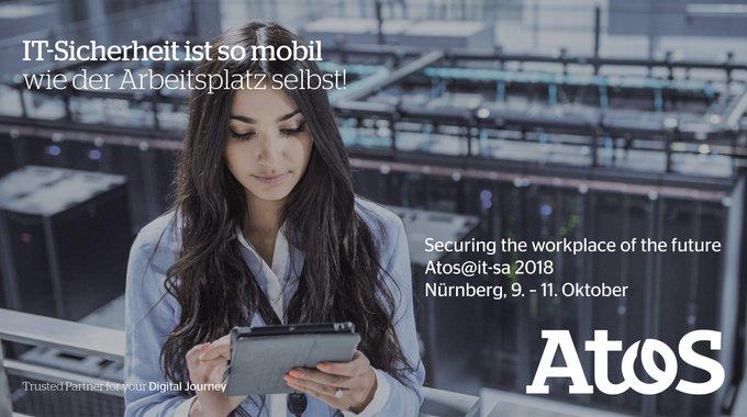 Kommen Sie zu Atos auf die it-sa 2018, Europas größte IT-Security Messe! Unsere Experten...