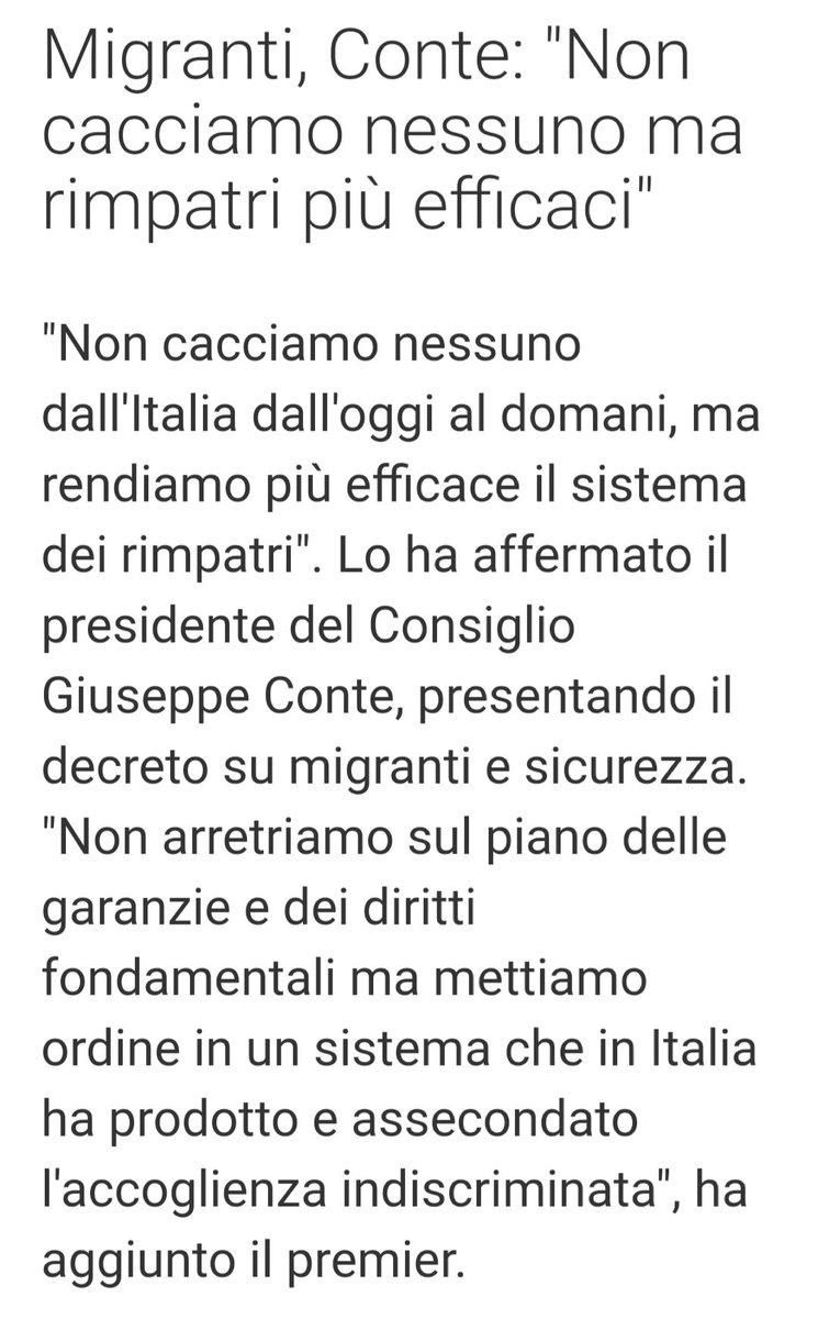 """#Conte sui #migranti """"Non cacciamo nessuno dall\"""