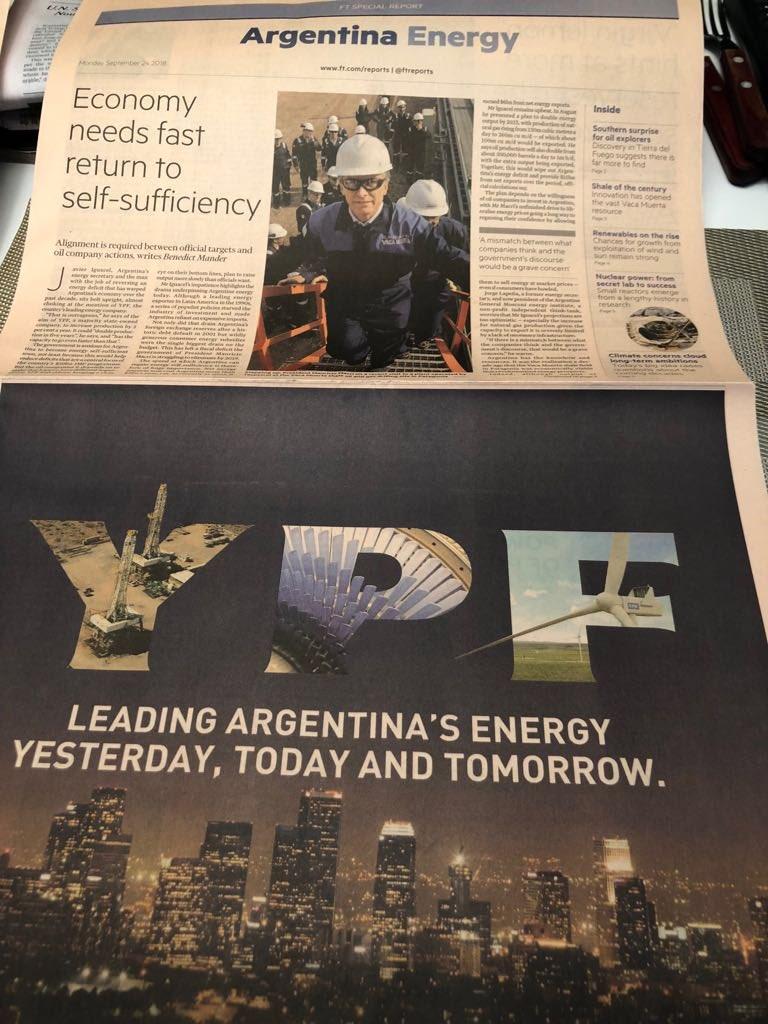 Cuatro páginas pagas en el Financial Times