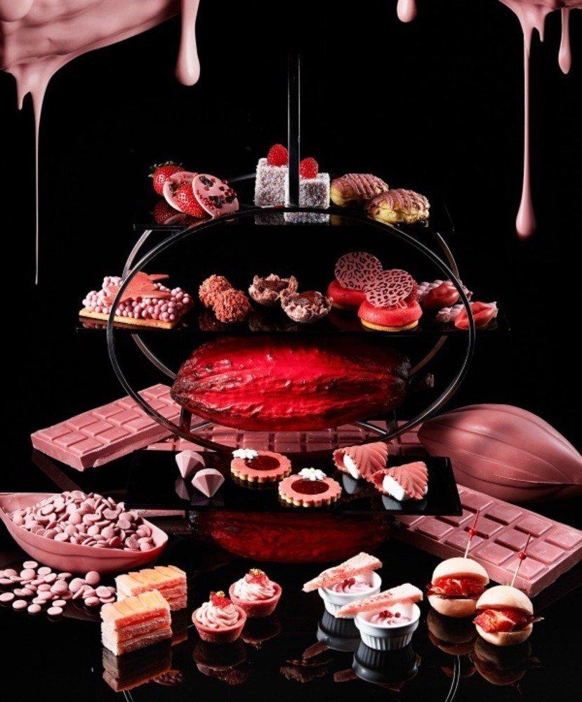 「ルビーチョコレート」のアフタヌーンティー&ビュッフェをANAインターコンチネンタルホテル東京で - https://t.co/5zIsxGnXS1