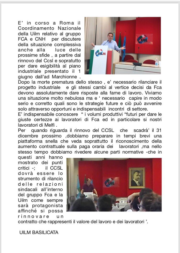 #Uilm coordinamento nazionale #FCA e #CNH  - Ukustom