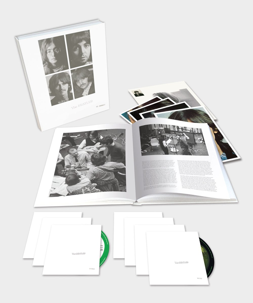 #BeatlesWhiteAlbum Anniversary Editions now available to pre-order https://t.co/jH57w8tovU  The album will be available in super deluxe 7-disc, deluxe 4LP, deluxe 3CD and 2LP editions, all with the new stereo audio mixes.