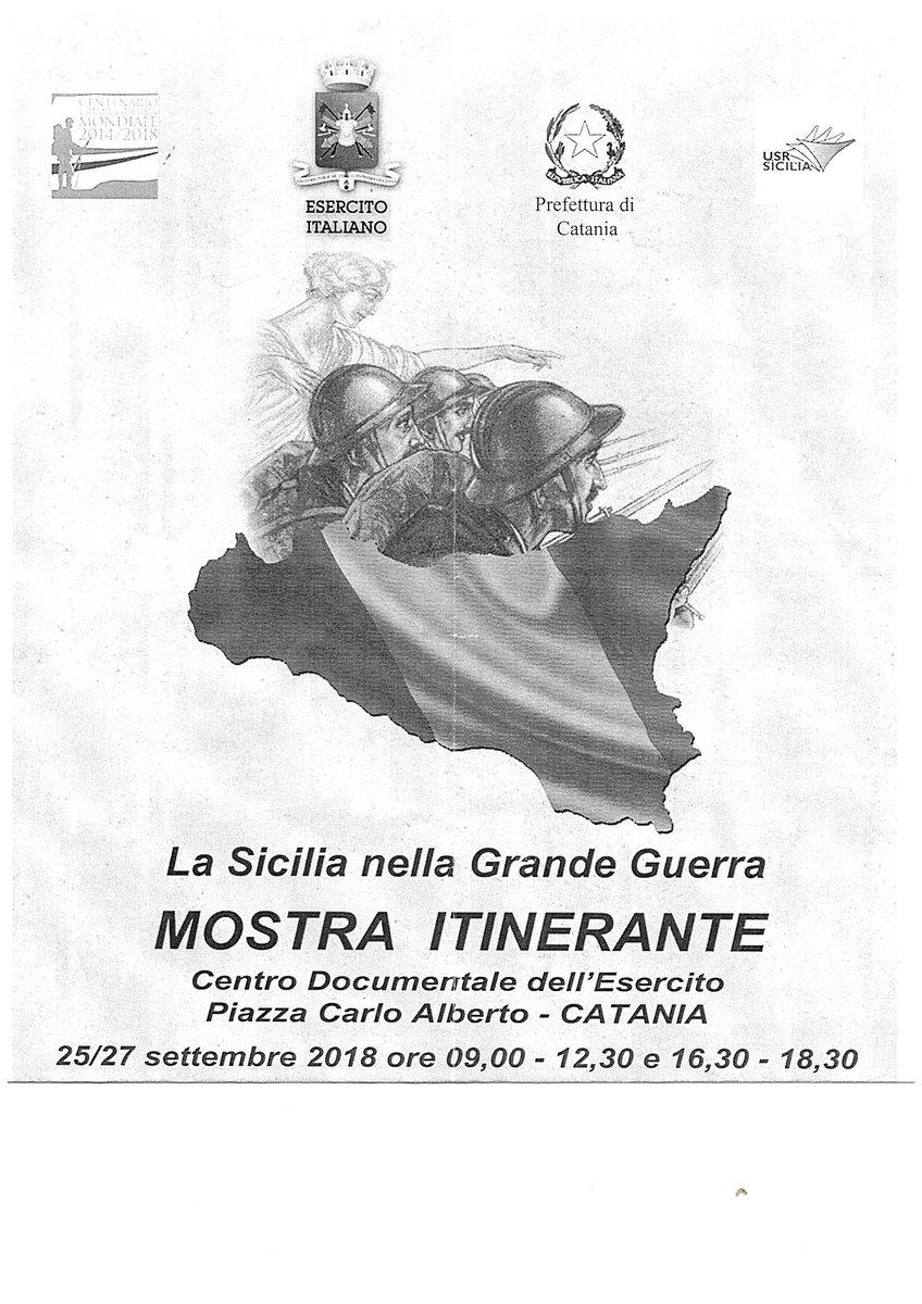 La #Sicilia nella Grande Guerra. #Mostra itinerante presso il Centro Documentale dell\