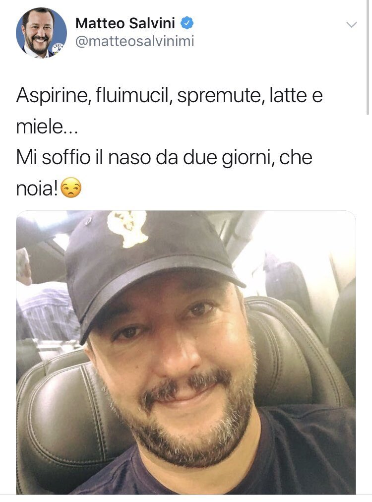 La forza di #Salvini è tutta qui: non sono i suoi (non)contenuti ma il modo di comunicarli. Non parla in politichese incomprensibile ma con un linguaggio #popolare. In un livellamento verso il basso l'italiano medio si identifica in lui. È il nuovo #sognoitaliano  - Ukustom