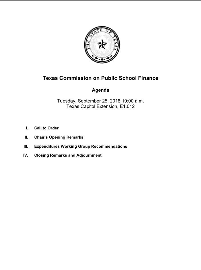 Moak Casey On Twitter The School Finance Commission Meeting Is
