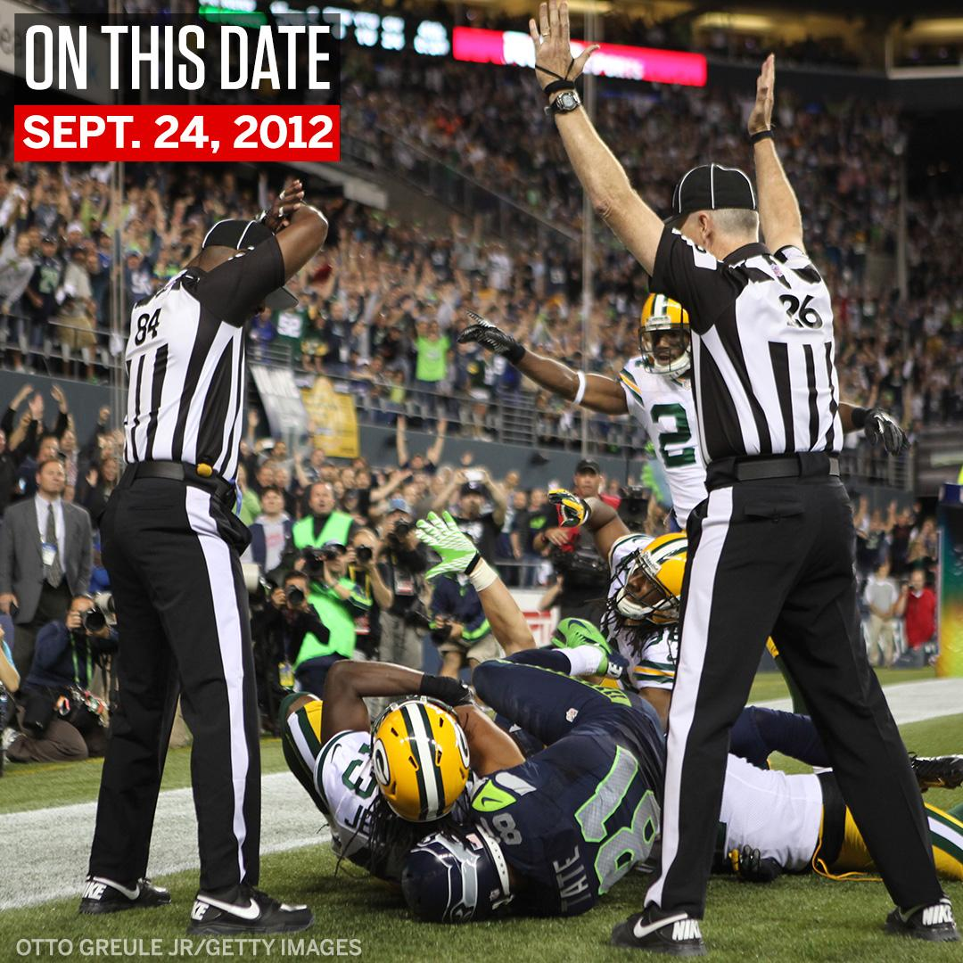 On This Date: The Seahawks beat the Packers on the infamous 'Fail Mary.' https://t.co/wNToE3ejYT