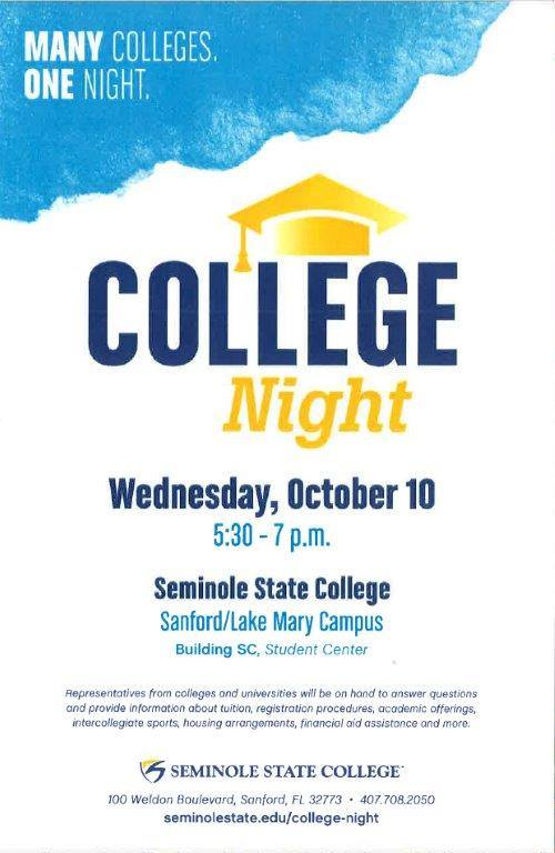 The College Map On Twitter Seminole State College Night Wednesday