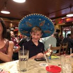 My oldest son, Aiden, showing the proper way to celebrate your 14th birthday in Houston.  Happy birthday son!  @PappasitosTXMEX #HTownPride #TXlege