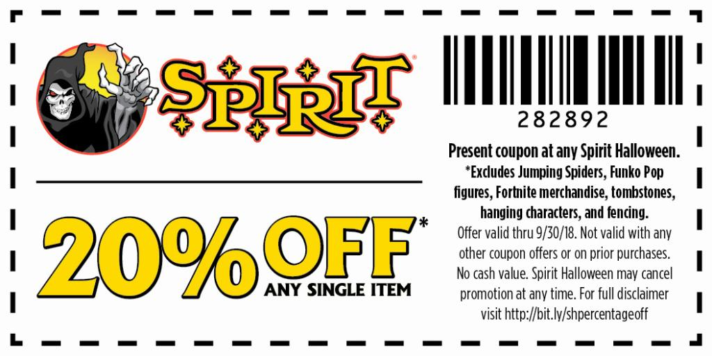 photograph about Spirit Halloween Printable Coupon referred to as Spirit Halloween upon Twitter: \