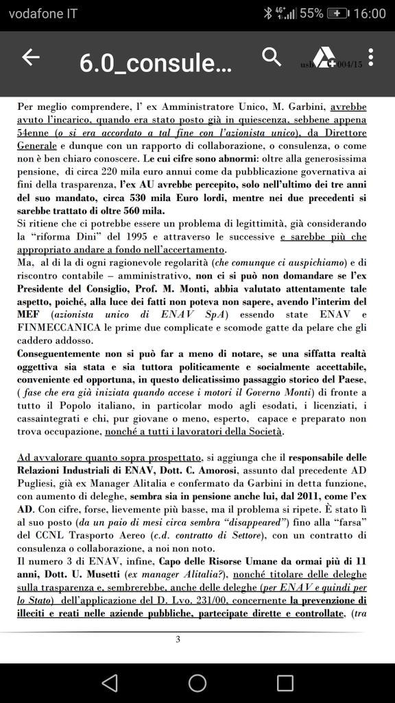 #24Settembreintervallo da #LetteraAperta...pag.2#consulenze #PensioniDOro#OrganismoDiVigilanza #ENAV#Osservatorio #sindacati #USB #CGIL #CISL #UIL #UGL #Monti #Garbini #Bellizzi #Musetti #Amorosi #Paggetti #Confindustria #Neri #DiMatteo #trasparenza #corruzione #magistrati  - Ukustom
