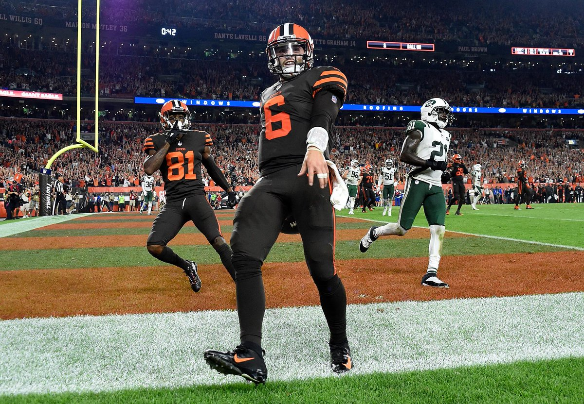 Baker Mayfield has officially been named the Browns' starting QB.