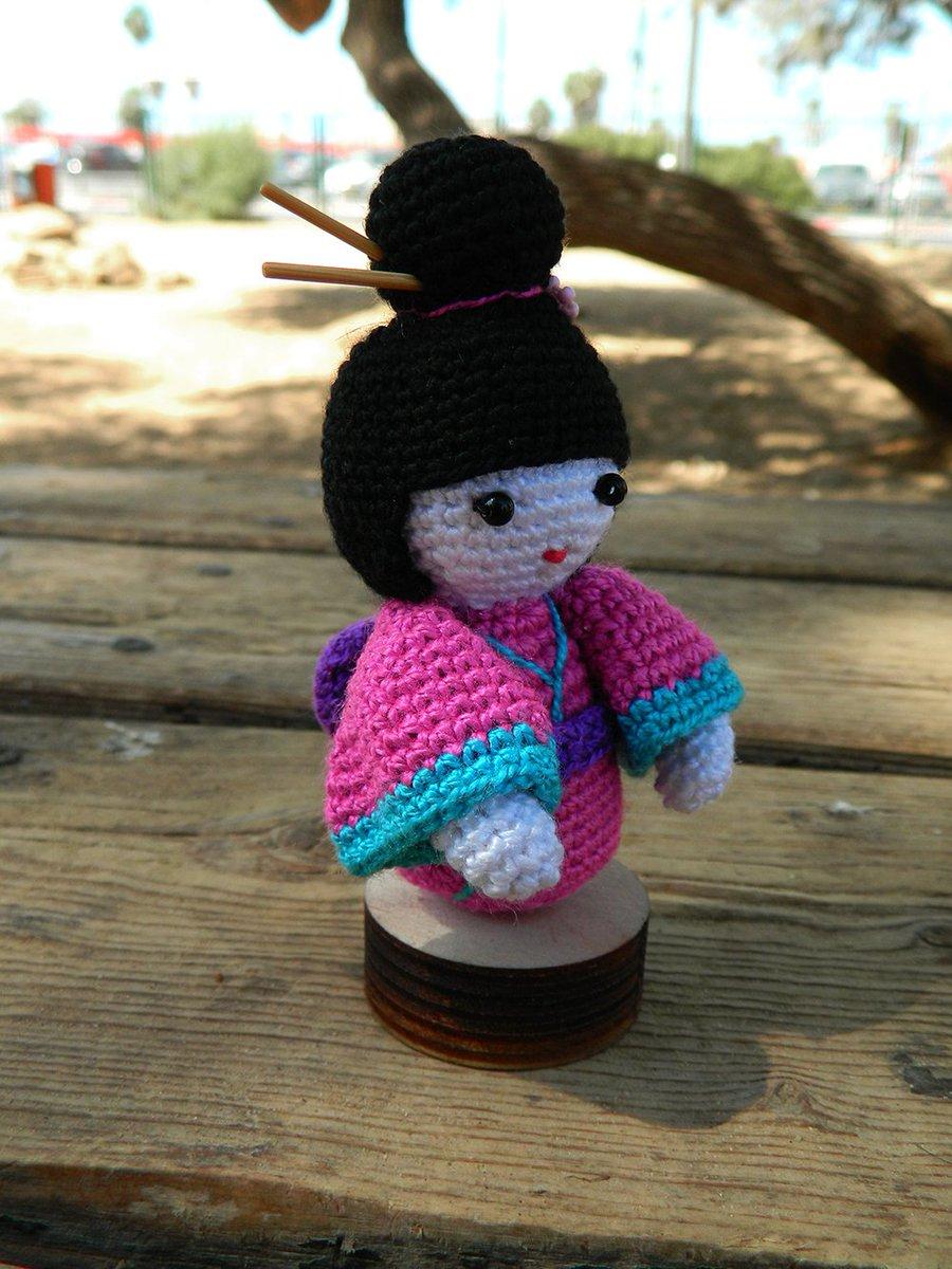 Amigurumi Kokeshi Doll Free Crochet Pattern | 1200x900