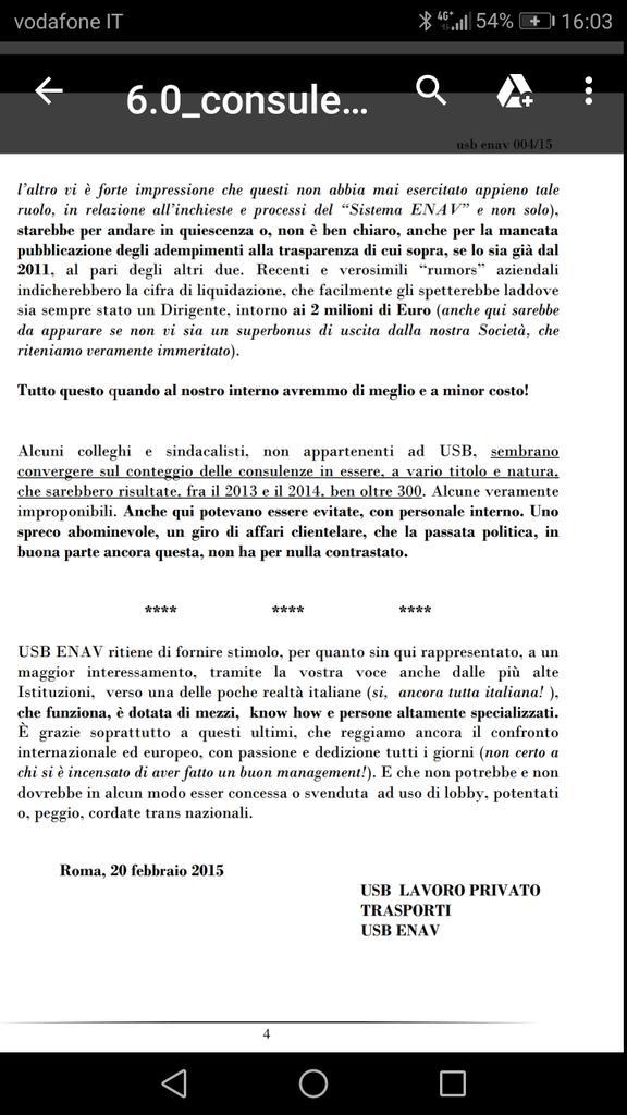 #24Settembreintervallo da #LetteraAperta...pag.3#consulenze #PensioniDOro#OrganismoDiVigilanza #ENAV#Osservatorio #sindacati #USB #CGIL #CISL #UIL #UGL #Monti #Garbini #Bellizzi #Musetti #Amorosi #Paggetti #Confindustria #Neri #DiMatteo #trasparenza #corruzione #magistrati  - Ukustom