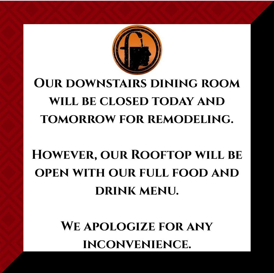 menu closed for business