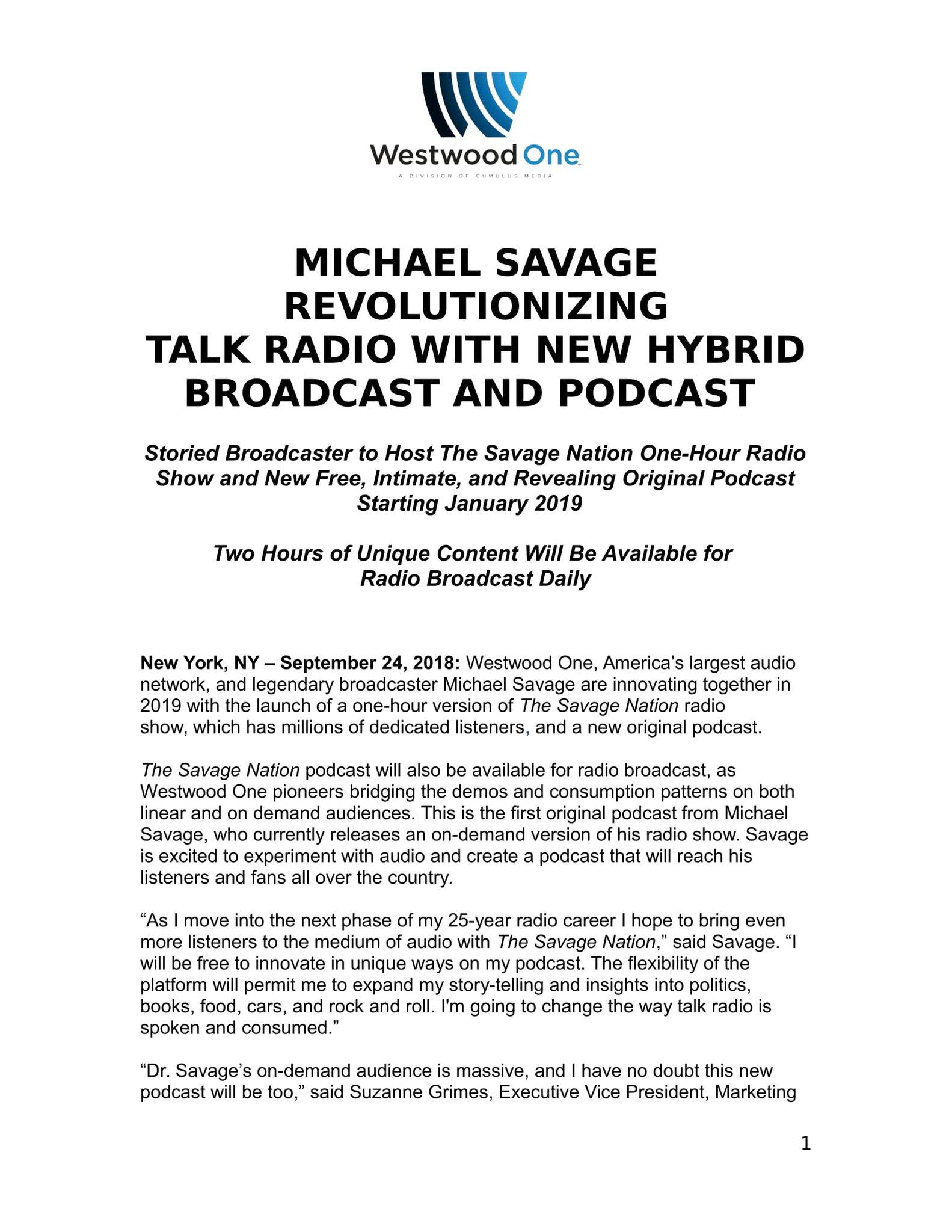 Michael Savage on Twitter: