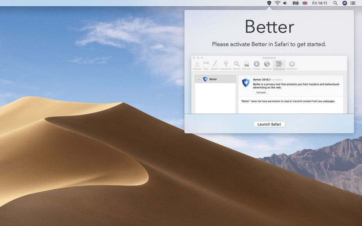 The new, radically simplified, Better Blocker for macOS is now out in time for today's release of macOS Mojave :)  (And it supports Dark Mode. In case you care about such things.)  https://t.co/M9NzVbEKsO