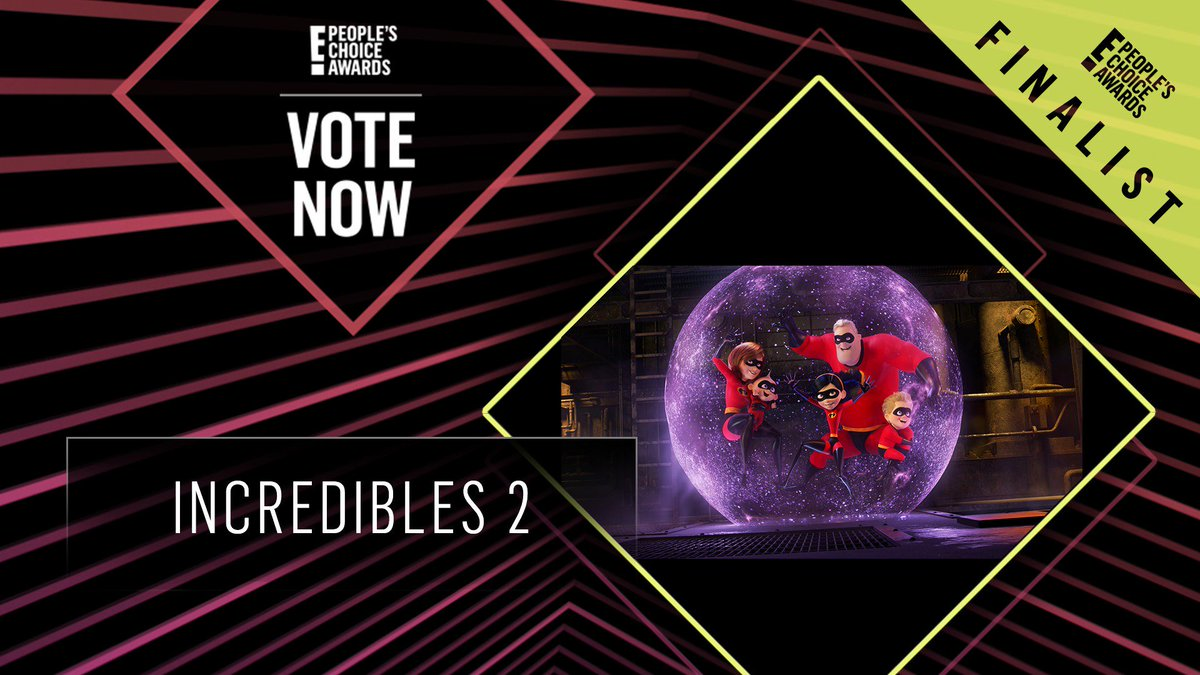Vote for Incredibles 2 by retweeting this post: #Incredibles2 #TheMovie #PCAs