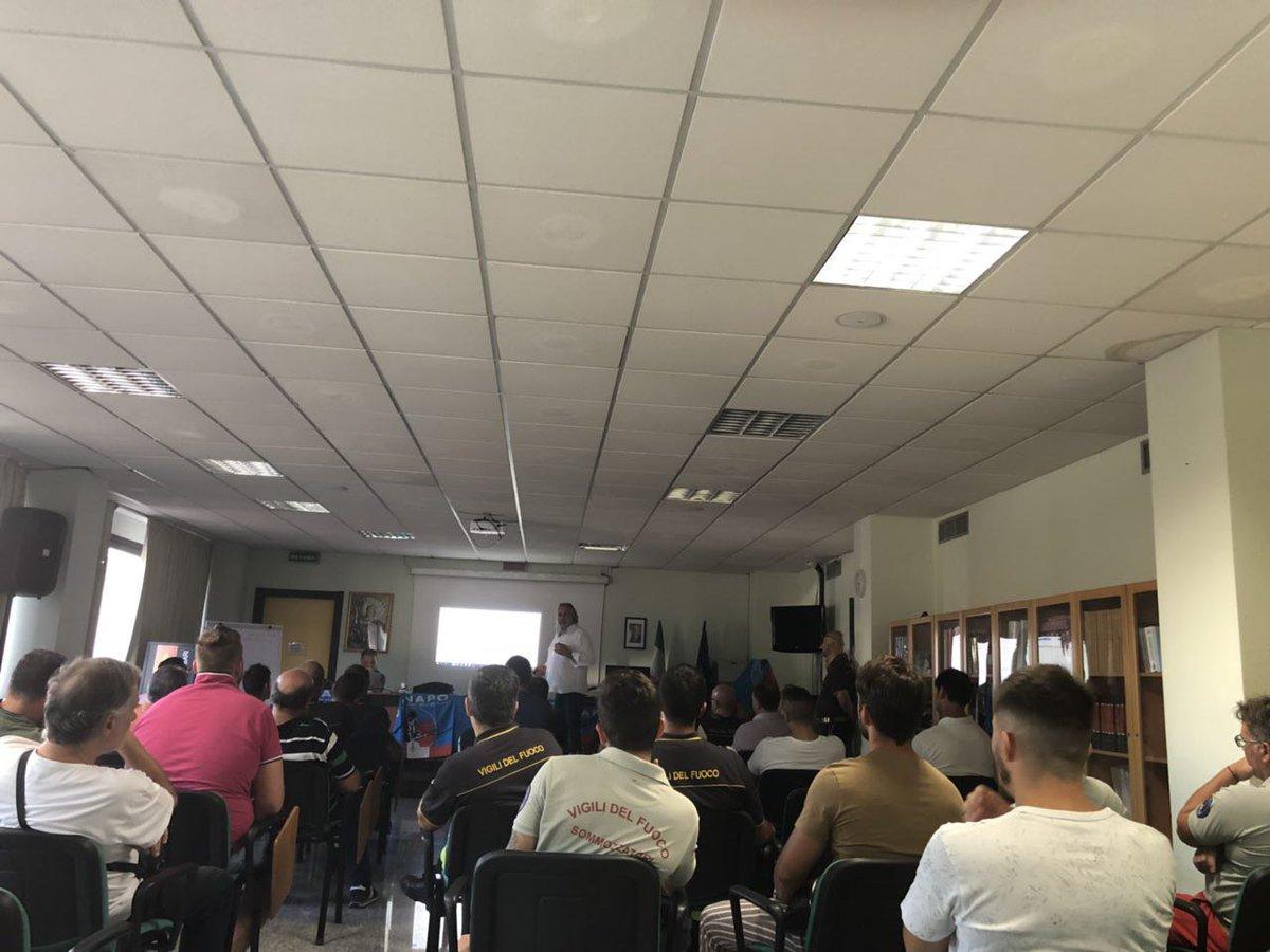 Il segretario generale del #Conapo #AntonioBrizzi incontra in assemblea i #Vigilidelfuoco di #Bari  - Ukustom