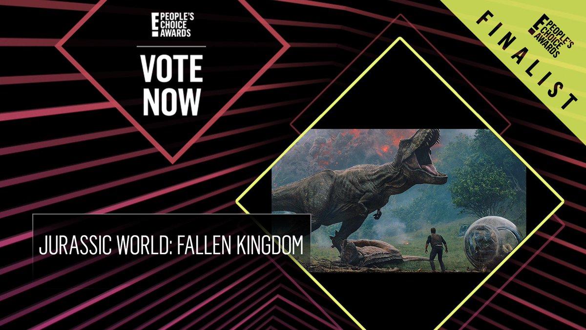 Vote for Jurassic World: Fallen Kingdom by retweeting this post: #JurassicWorldFallenKingdom #TheActionMovie #PCAs