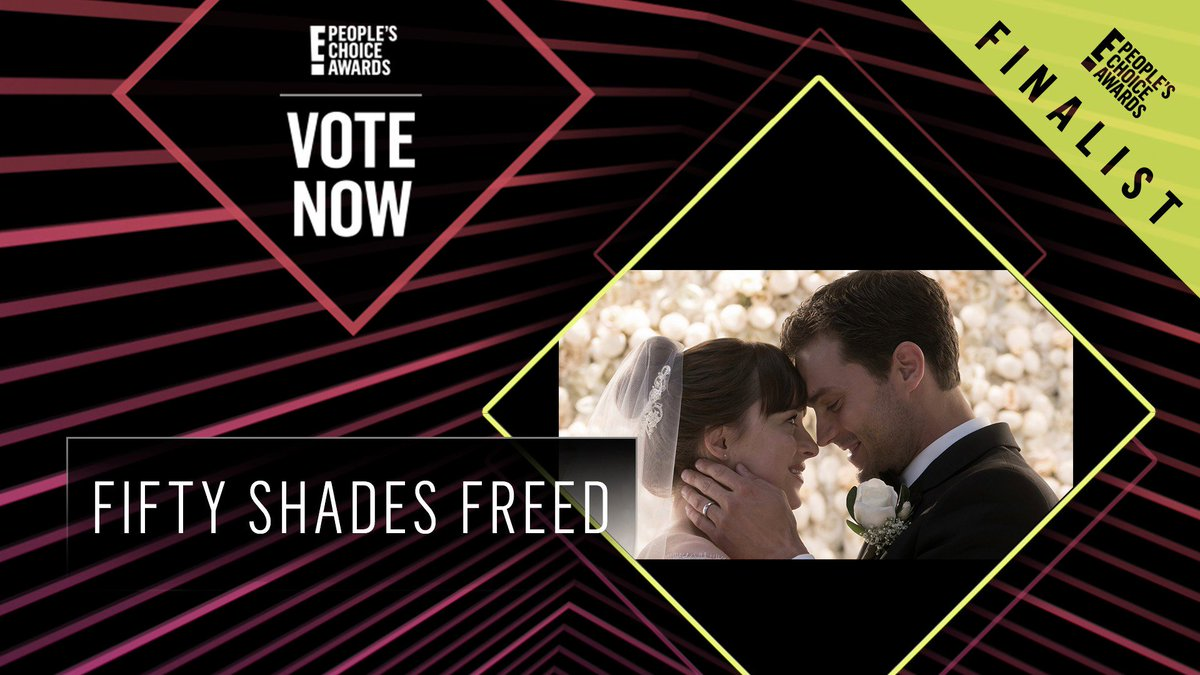 Vote for Fifty Shades Freed by retweeting this post: #FiftyShadesFreed #TheDramaMovie #PCAs