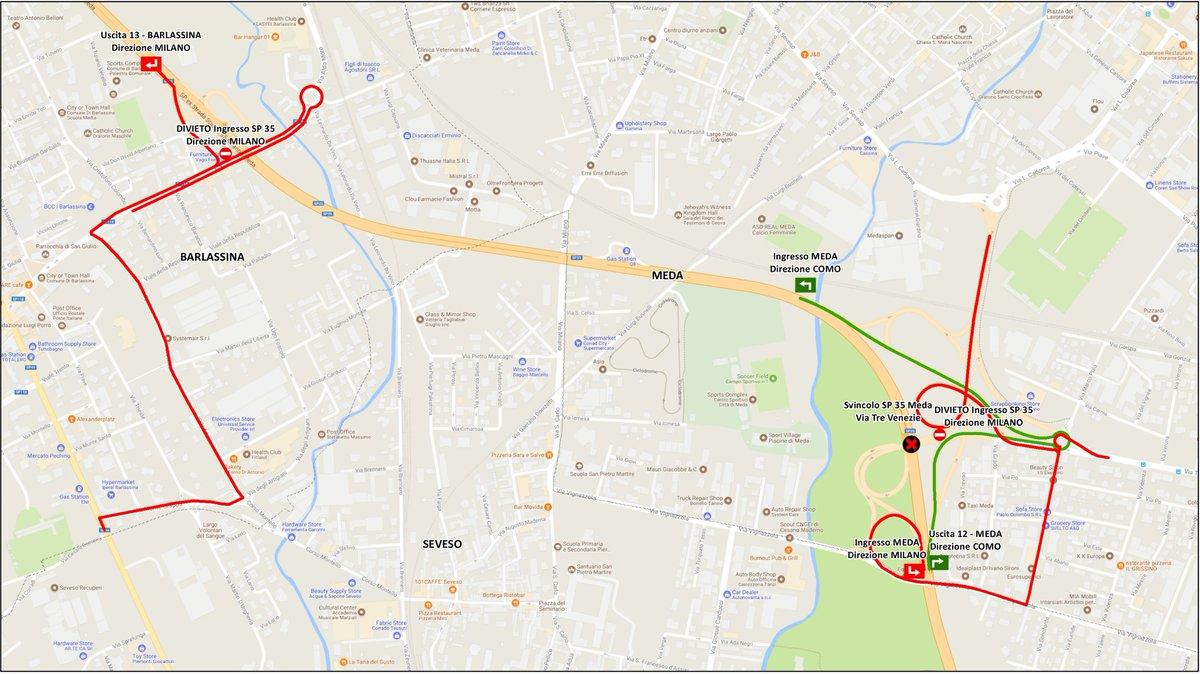 Dalle 21 fino alle 6 di domani 24 #settembre2018 #SP35 #milanomeda CHIUSA per prove di carico su #ponte 26. Da #Milano uscita obbligatoria 12 #Meda, da #Como 13 #Barlassina #informazioni, #chiusure, #deviazioni e #percorsi consigliati su …  - Ukustom