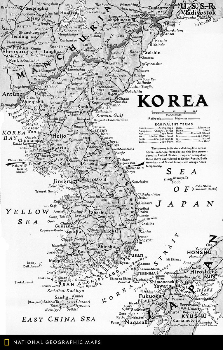 Natgeomaps on twitter map of the day natgeo has a long tradition this october 1945 map depicts the korean peninsula after world war ii senior research editor scott zillmer has curated 5 country maps for this weeks map gumiabroncs Image collections