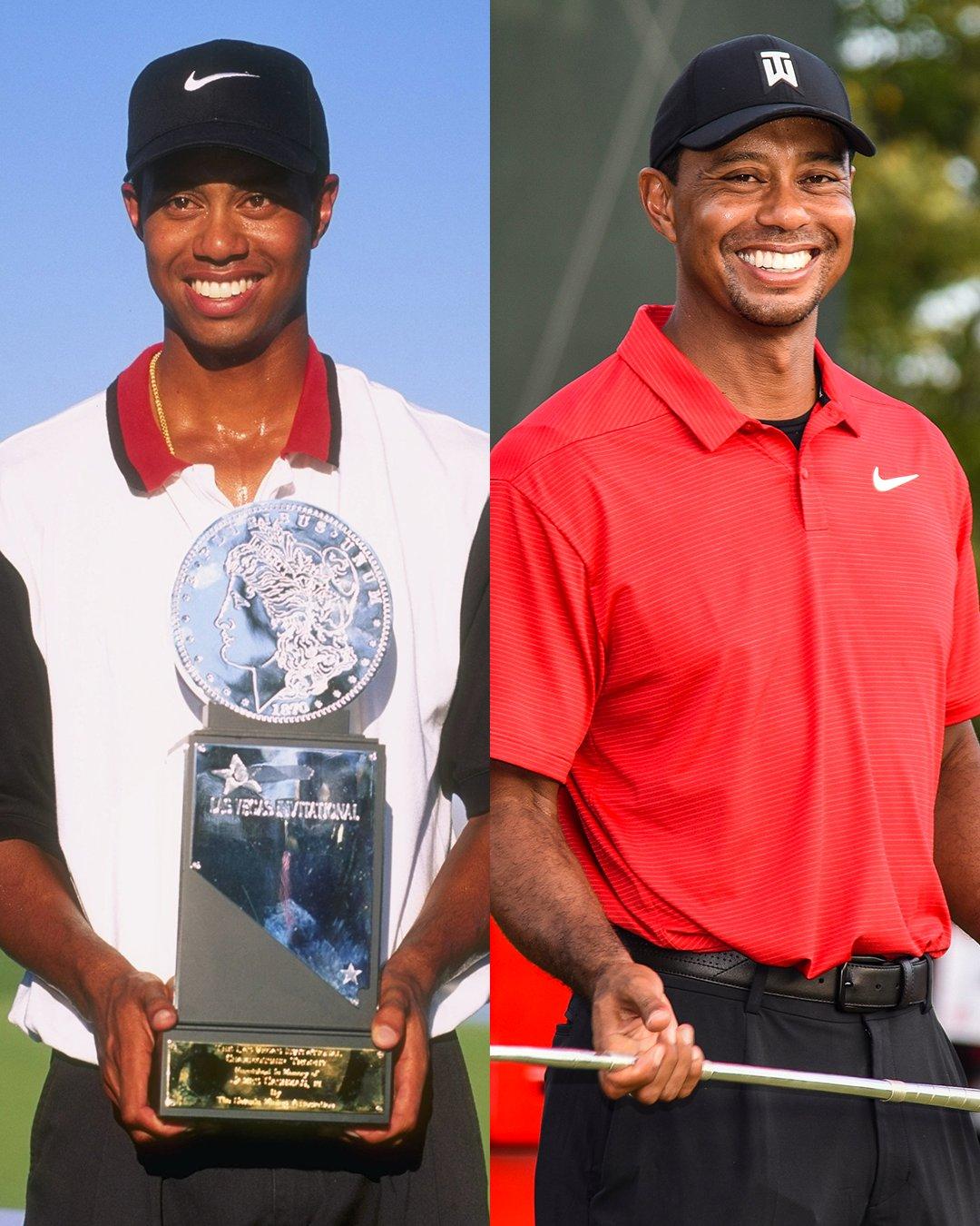 First professional Tiger win vs. 80th professional Tiger win. https://t.co/qTRkkBgiFf