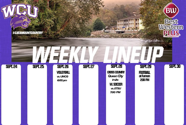 Weekly Line up - ending Sep. 30