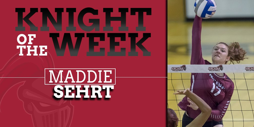 Congratulations to Maddie Sehrt and Daniel Tittelmayer on being named Knights of the Week!