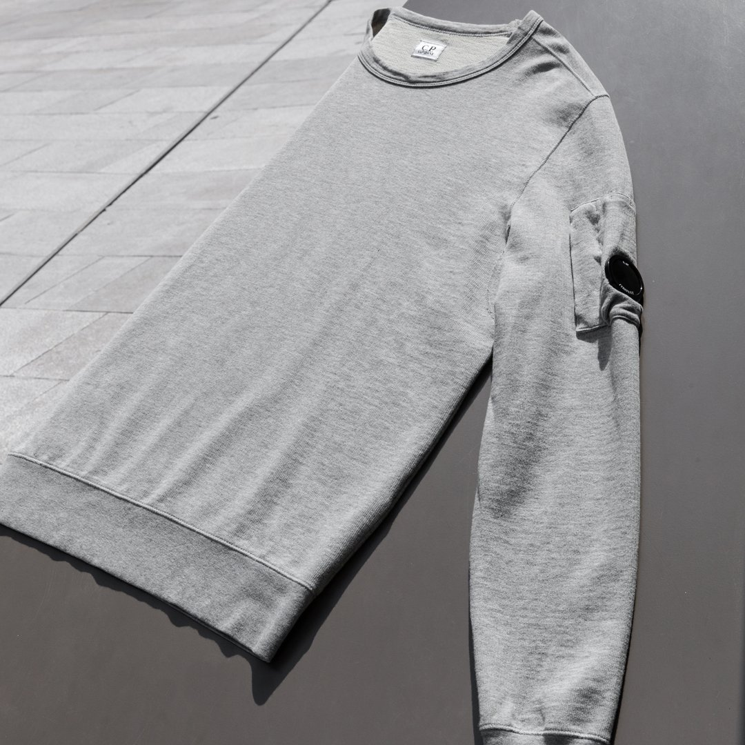 69a8487e601893 New Season Light Fleece Crew Neck Sweatshirts constructed from a soft  cotton jersey and garment dyed, featuring a zipped lens sleeve pocket and  underarm ...