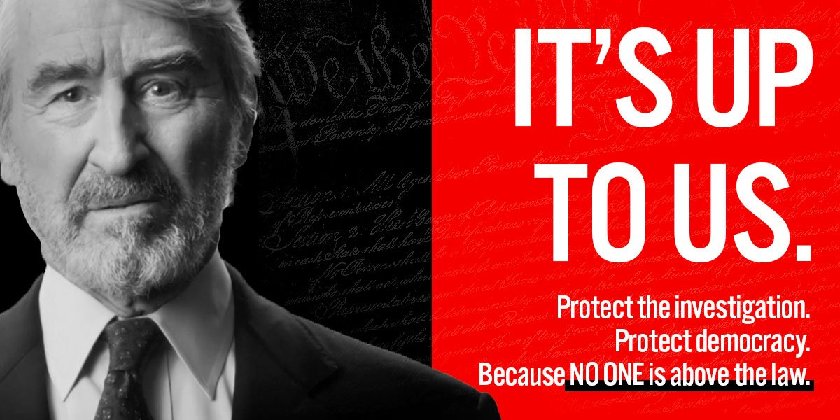It really is, Sam Waterston, it really is.  Pledge to take action if @realDonaldTrump sabotages the #TrumpRussia investigation: https://t.co/Guk5NP37Ee