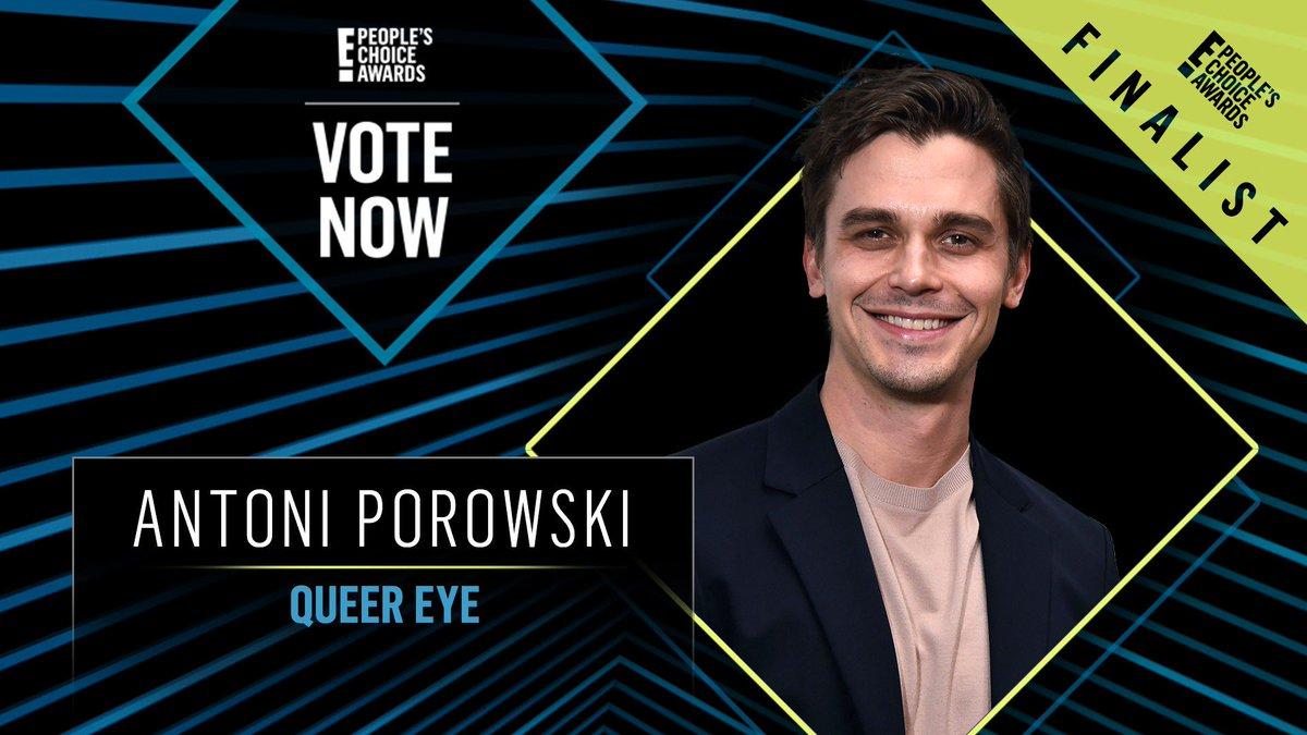 Vote for Antoni Porowski from Queer Eye by retweeting this post: #AntoniPorowski #TheRealityTVStar #PCAs
