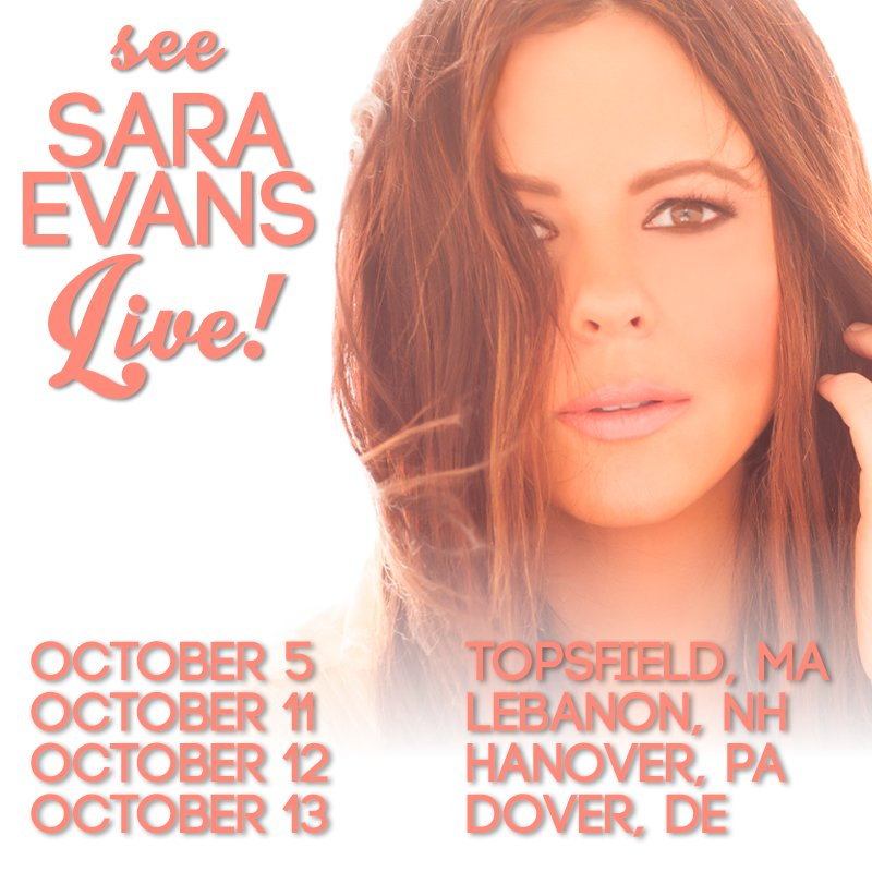 Sara evans on twitter looking forward to my shows in massachusetts 914 am 24 sep 2018 m4hsunfo