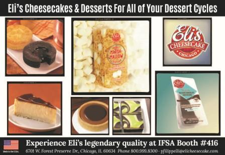 Eli's Cheesecake #Chicago will be @IFSAOnBoard #IFSAEXPO2018 booth #416 in #Boston this week!  We look forward to meeting you!