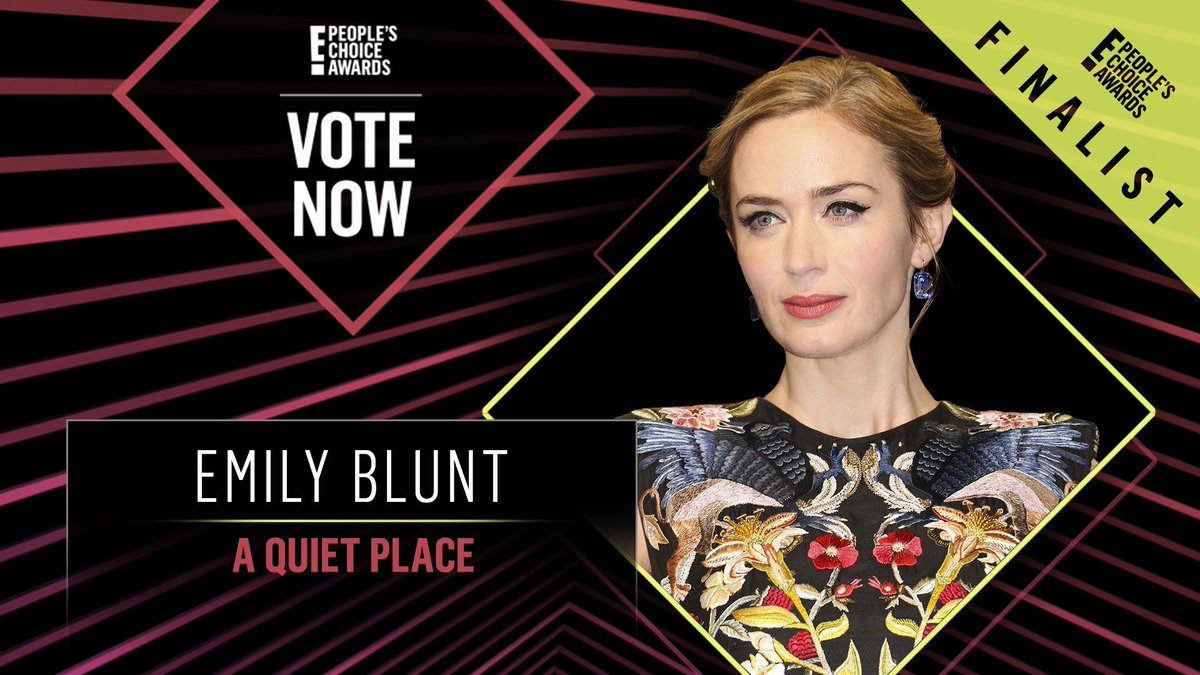 Vote for Emily Blunt from A Quiet Place by retweeting this post: #EmilyBlunt #TheDramaMovieStar #PCAs