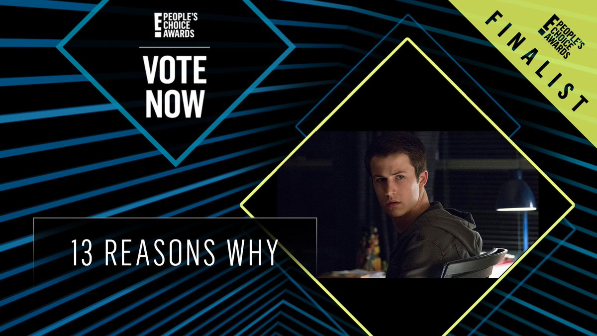 Vote for 13 Reasons Why by retweeting this post: #13ReasonsWhy #TheBingeworthyShow #PCAs