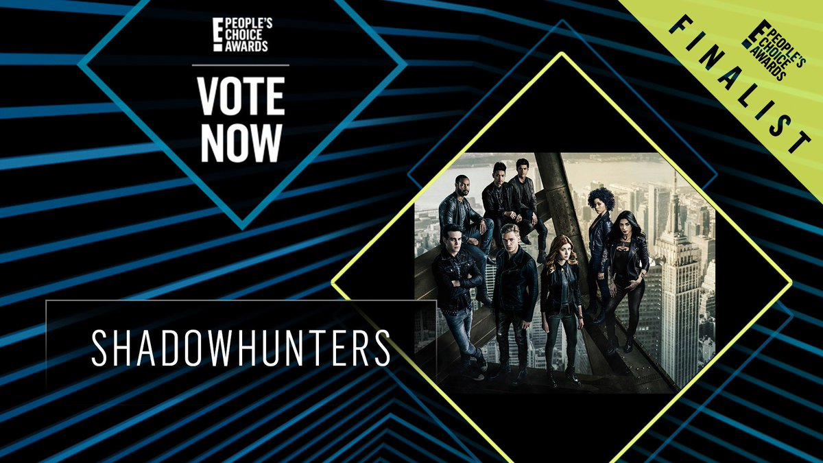 Vote for Shadowhunters by retweeting this post: #Shadowhunters #TheBingeworthyShow #PCAs