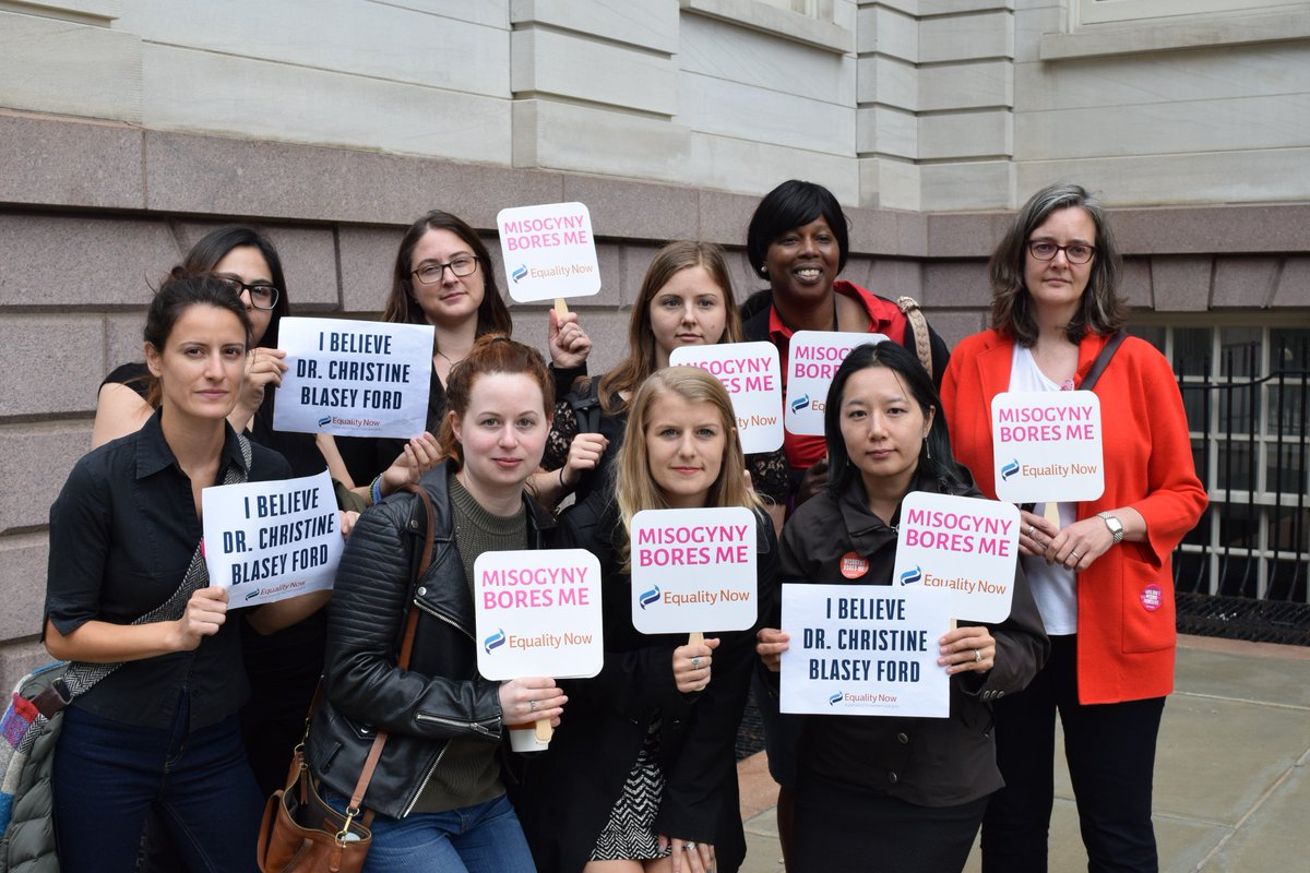 Joining our sisters around the country by walking out and showing up for survivors. #BelieveSurvivors