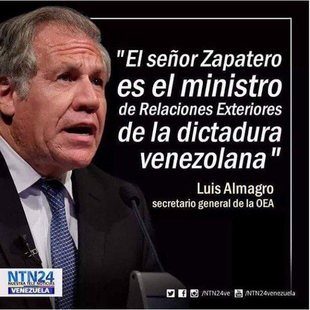 Luis Almagro: &quot;Mr. Zapatero is the #Venezuelan dictatorship&#39;s Foreign Minister&quot;  #Venezuela #OEA #OAS #Canada #Chile #Colombia #Peru #Paraguay #LatinAmerica  Via @WellingMichael<br>http://pic.twitter.com/2kAg9syOQx