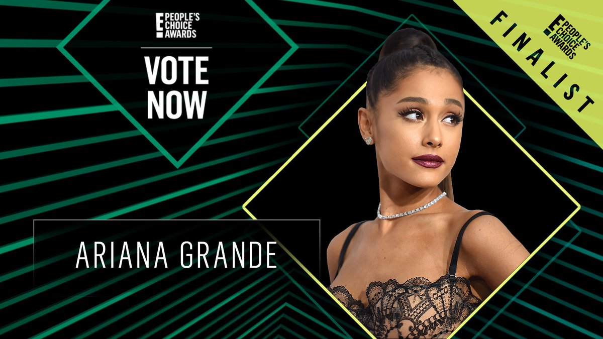 Vote for Ariana Grande by retweeting this post: #ArianaGrande #TheFemaleArtist #PCAs
