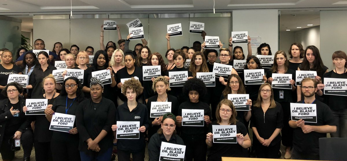 To Dr. Christine Blasey Ford, Deborah Ramirez, and all the survivors, we want you to know:   You are not alone.  You are resilient.  Millions of us have your back.   #BelieveSurvivors #StopKavanaugh