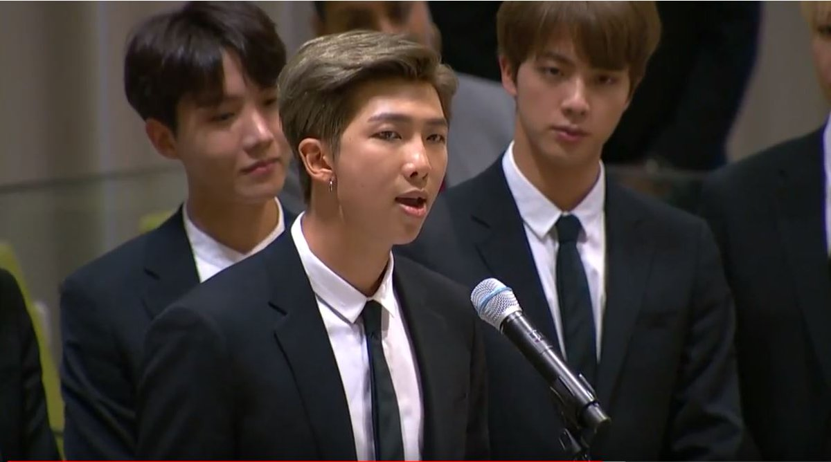 'I want to hear your voice... No matter who you are, where you're from, your skin color, your gender identity, just speak yourself.' @bts_bighit launch #GenUnlimited @UN @_GenUnlimited #Youth2030 #UNGA