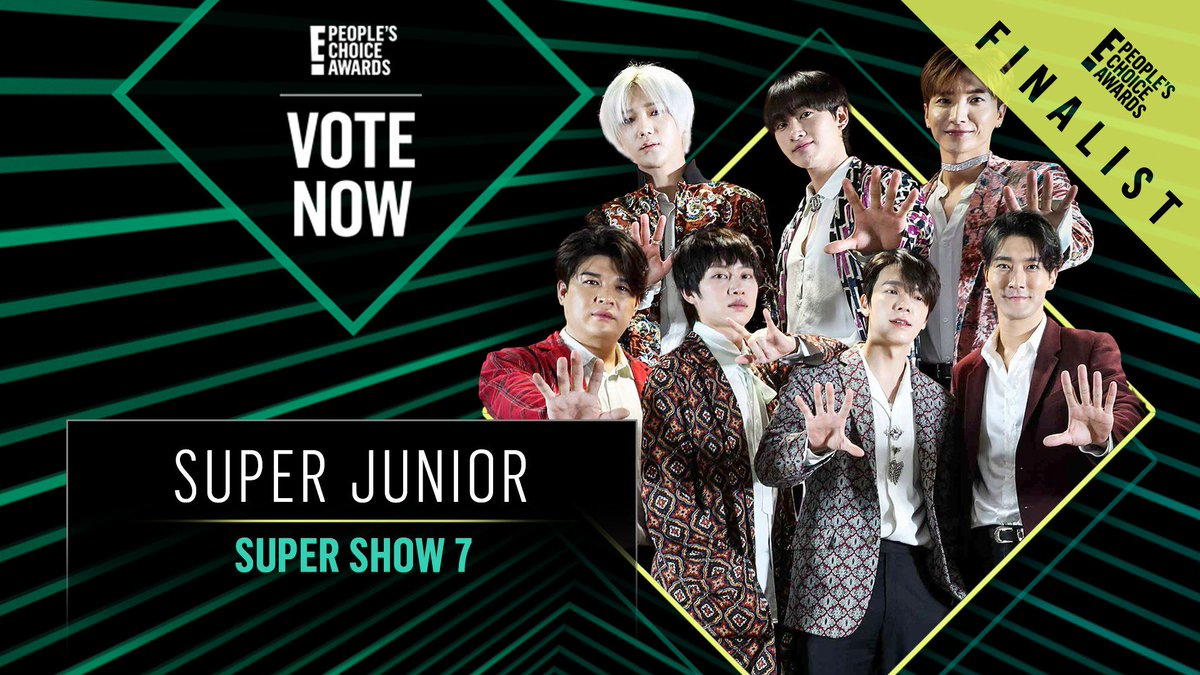 Vote for Super Junior's Super Show 7 Tour by retweeting this post: #SuperJunior #SuperShow7 #TheConcertTour #PCAs