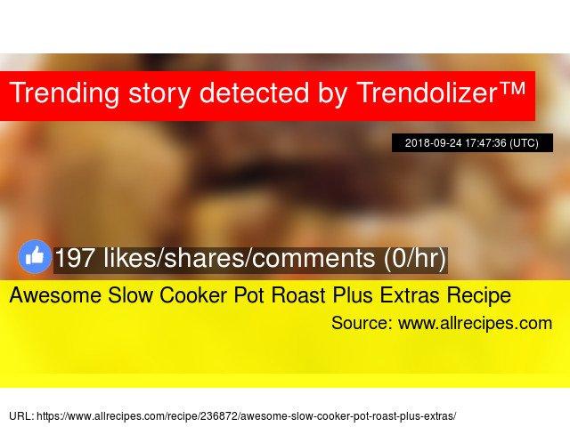 Awesome Slow Cooker Pot Roast Plus Extras Recipe https://t.co/O1JJ2WUBul https://t.co/xGEpw6F7R4